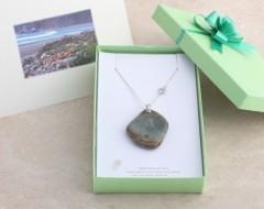 Personalized Card & Light Green Jewelry Box