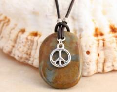 Peace Leather Necklace